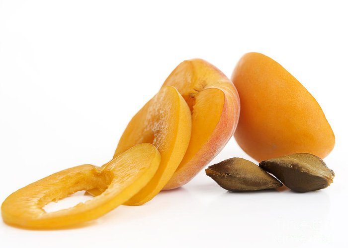Food And Drink Greeting Card featuring the photograph Apricots by Bernard Jaubert