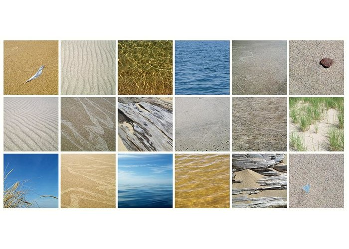 Great Lake Greeting Card featuring the photograph April Beach 2.0 by Michelle Calkins
