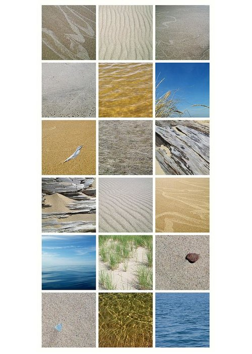 Great Lake Greeting Card featuring the photograph April Beach by Michelle Calkins