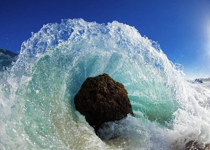 Waves Greeting Card featuring the photograph Aqua Dome by Sean Davey