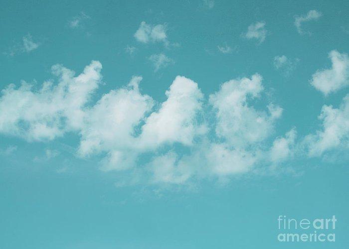 The Sky Greeting Card featuring the photograph Aqua Sky Meditation by Irina Wardas