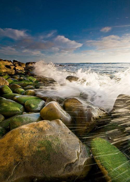 Ocean Greeting Card featuring the photograph Aqueous by Ryan Weddle