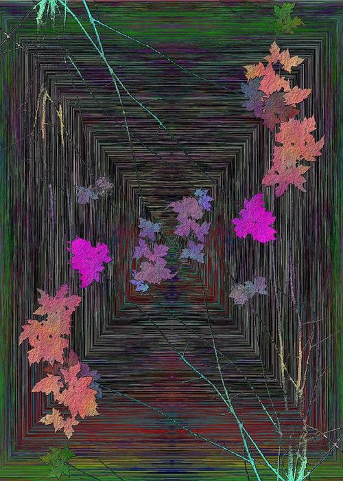 Tree Greeting Card featuring the digital art Arbor Autumn Harmony 11 by Tim Allen