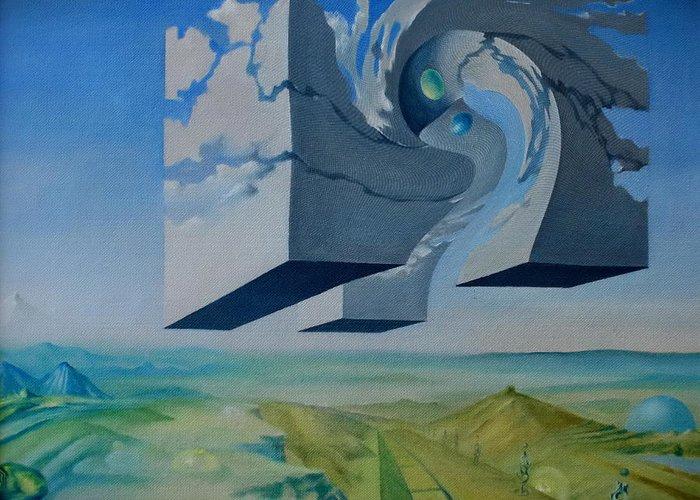 Sky Greeting Card featuring the digital art Arch by Aleksandr Mikushev