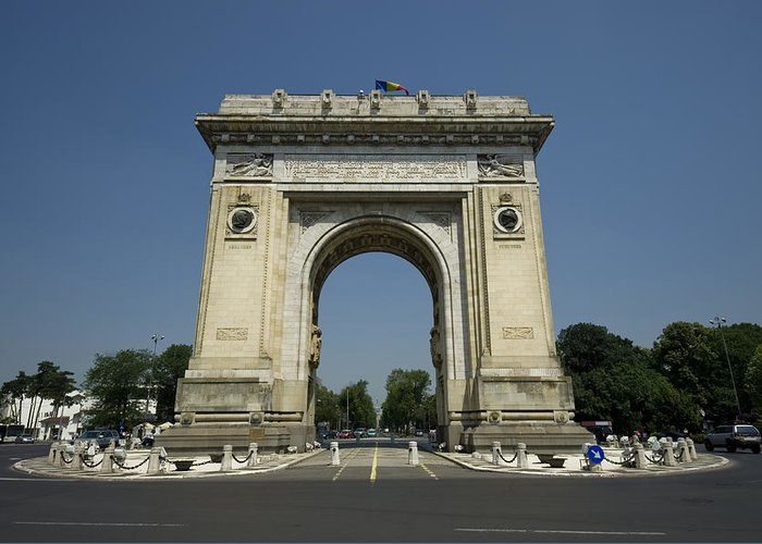 Arc Greeting Card featuring the photograph Arch Of Triumph by Ioan Panaite