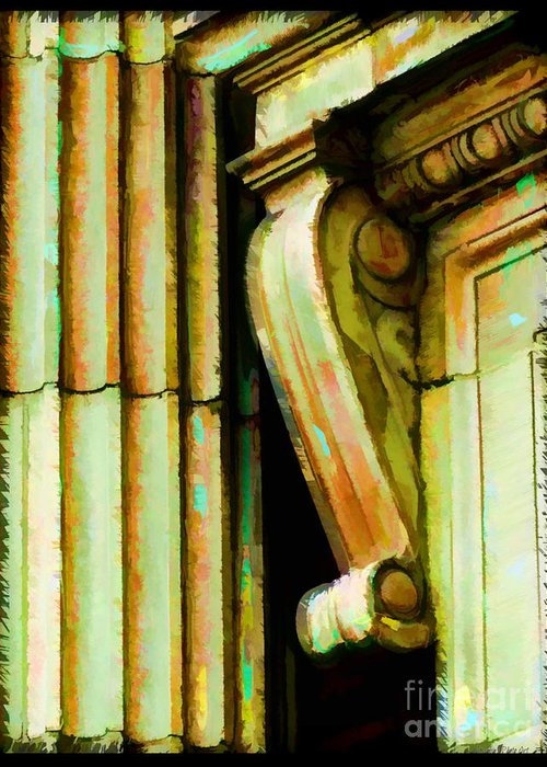 Architectural Elements Greeting Card featuring the photograph Archatectural Elements Digital Paint by Debbie Portwood