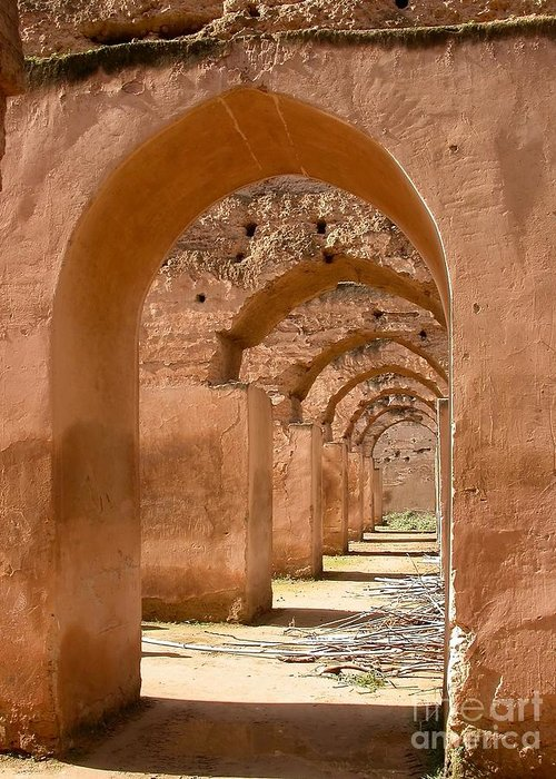 Arches Greeting Card featuring the photograph Arches by Sophie Vigneault