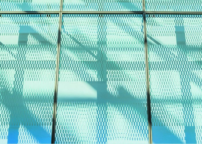 Berlin Greeting Card featuring the photograph Architectural Detail Of Modern Shopping by Ingo Jezierski