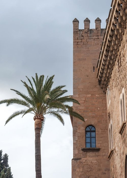 Cathedral Greeting Card featuring the photograph Architecture In Old Palma. by Ingela Christina Rahm