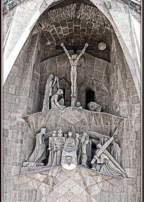 Sagrada Familia Greeting Card featuring the photograph Architecture Of Sagrada Familia Barcelona by Nick Difi