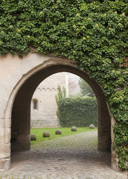 Bebenhausen Greeting Card featuring the photograph Archway Bebenhausen Abbey by Matthias Hauser