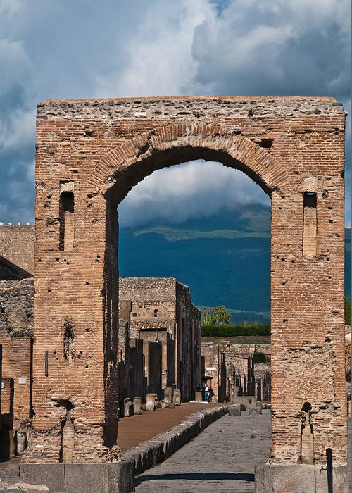 Pompeii Greeting Card featuring the photograph Archway by Marion Galt