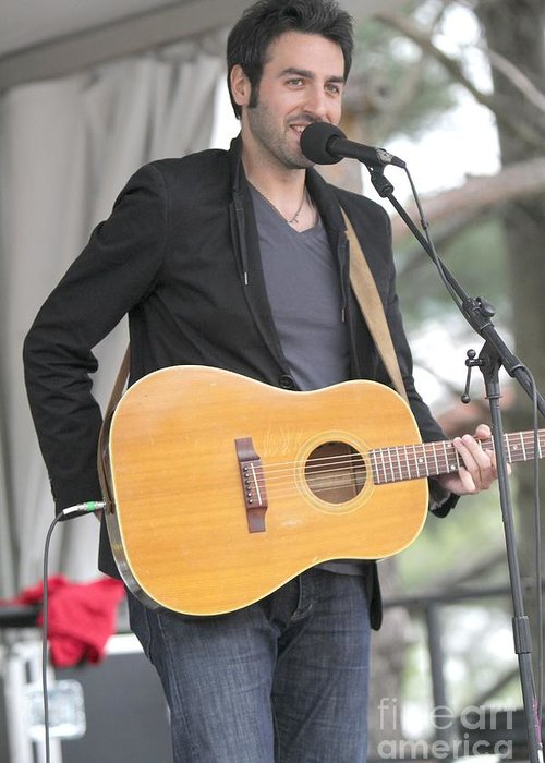 Pop Greeting Card featuring the photograph Ari Hest by Concert Photos