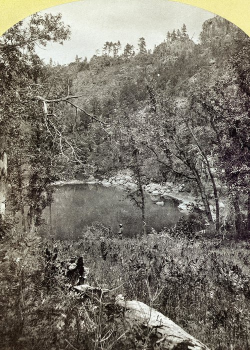 1873 Greeting Card featuring the photograph Arizona Apache Lake, 1873 by Granger