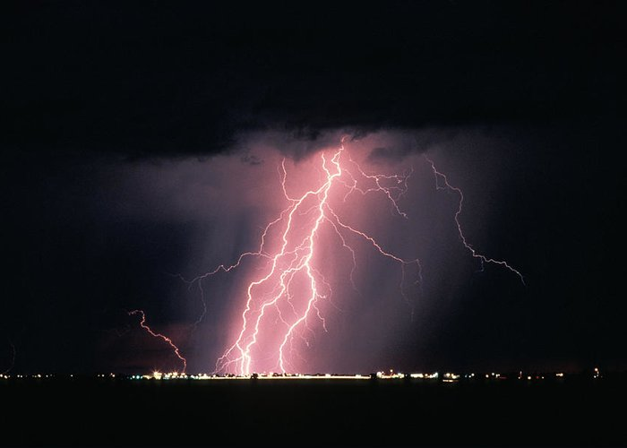 Arizona Lightning Greeting Cards