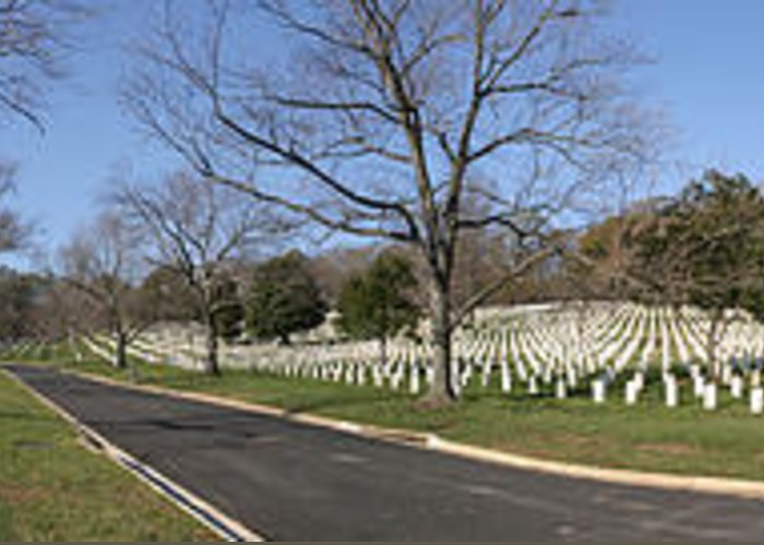Metro Greeting Card featuring the photograph Arlington National Cemetery Panorama 2 by Metro DC Photography