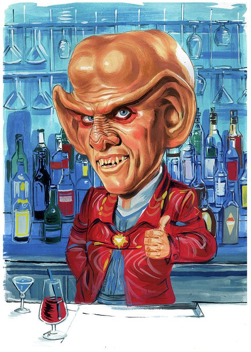 Armin Shimerman Greeting Card featuring the painting Armin Shimerman As Quark by Art