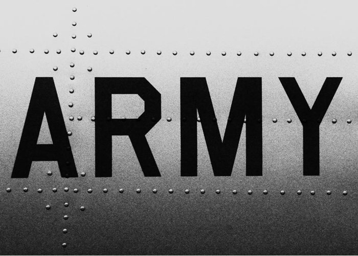 Army Greeting Card featuring the photograph Army Strong by Benjamin Yeager
