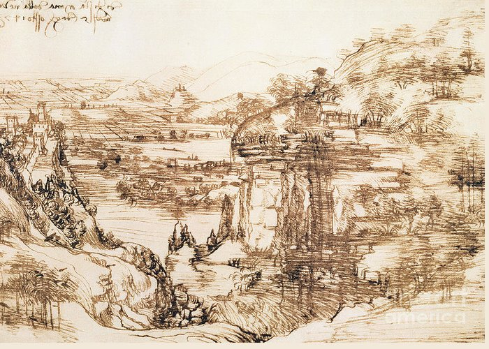 Italian Landscapes Drawings Greeting Cards