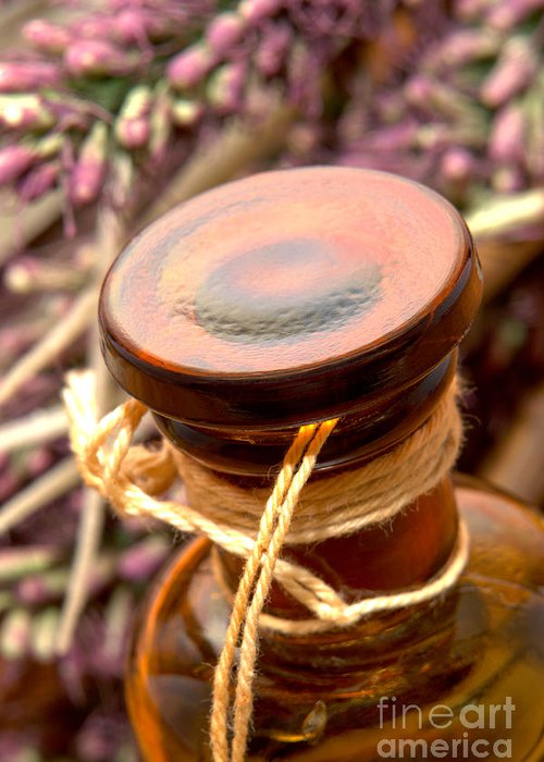 Aromatherapy Greeting Card featuring the photograph Aromatherapy Bottle by Olivier Le Queinec