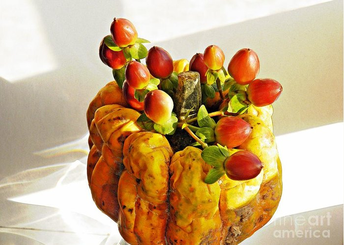Squash Greeting Card featuring the photograph Arrangement On Squash 2 by Sarah Loft