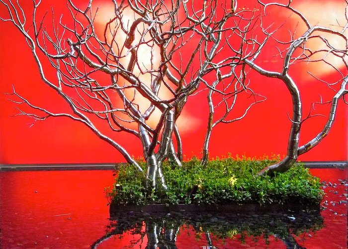Red Greeting Card featuring the photograph Art Installation by Stephanie Moore