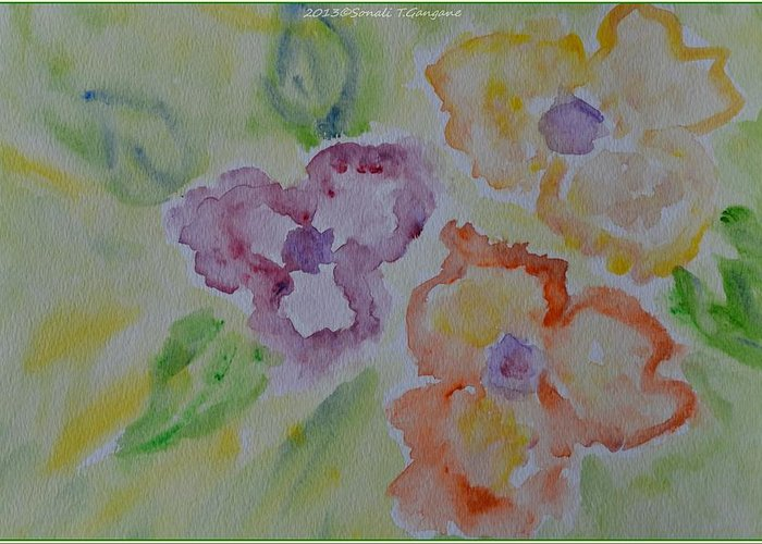 Posters Greeting Card featuring the painting Art Of Watercolor by Sonali Gangane