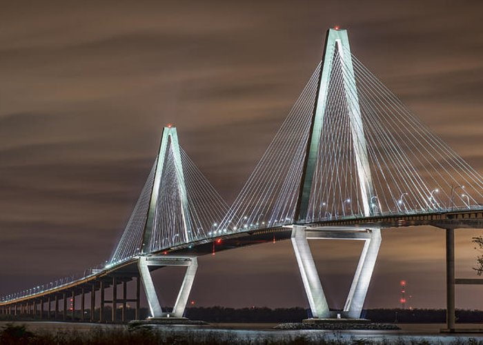 Charleston Greeting Card featuring the photograph Arthur Ravenel Jr. Bridge by Brian Young
