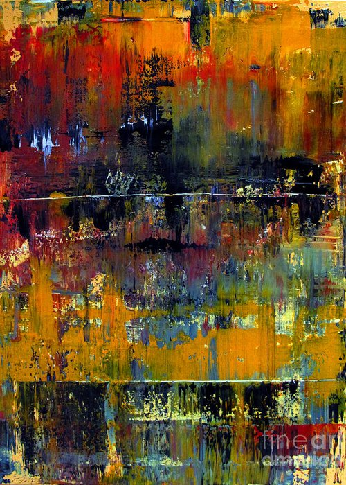 Abstraction Greeting Card featuring the painting Artifact 27 by Charlie Spear