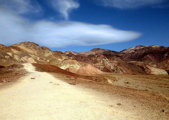 Death Valley Greeting Card featuring the photograph Artist Pallet Death Valley by Sheryl Chapman Photography