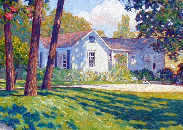 City Greeting Card featuring the painting Artists Home by Kevin Lawrence Leveque
