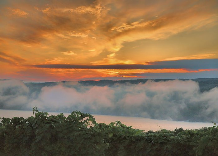 Sunrise Greeting Card featuring the photograph As Morning Breaks by Steven Ainsworth