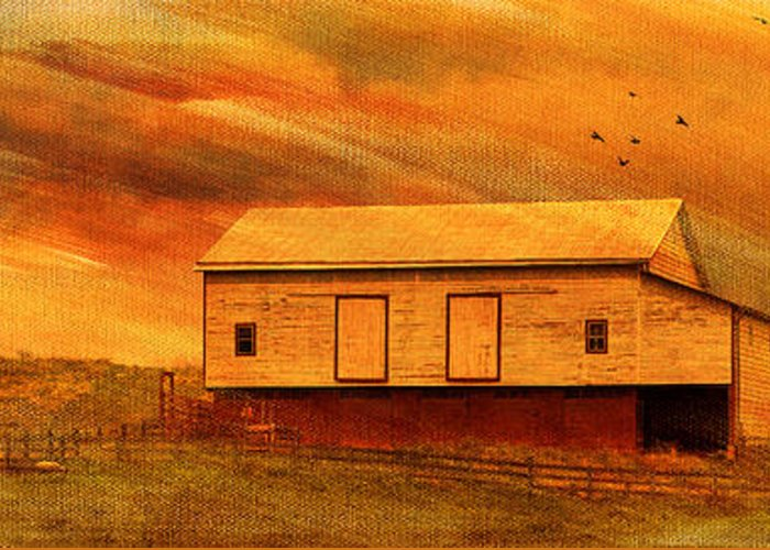 Sunset Greeting Card featuring the photograph As The Sun Sets by Kathy Jennings