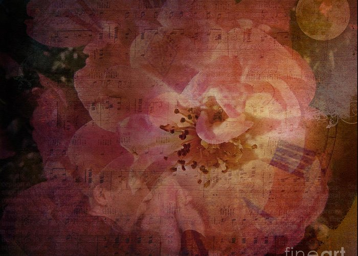 Roses Greeting Card featuring the digital art As Time Goes By by Lianne Schneider