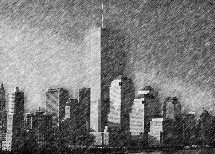 New York City Greeting Card featuring the photograph As You Were by Joann Vitali