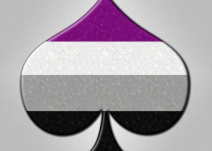 asexual ace symbol greeting card for sale by tavia starfire