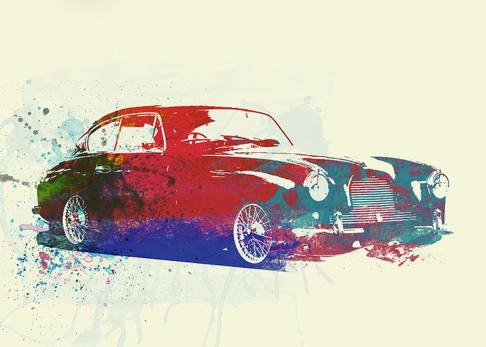 Aston Martin Db2 Greeting Card featuring the photograph Aston Martin Db2 by Naxart Studio
