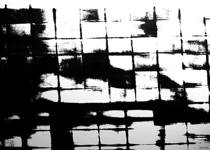 Digital Art. Photography Greeting Card featuring the digital art Asylum 004 by Jack Mind