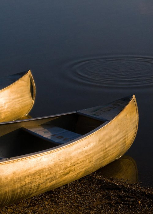 Canoe Greeting Card featuring the photograph At Sunrise by Dale Kincaid