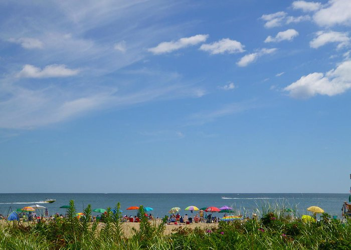 Summer Greeting Card featuring the photograph At The Beach 2 by Ellen Paull
