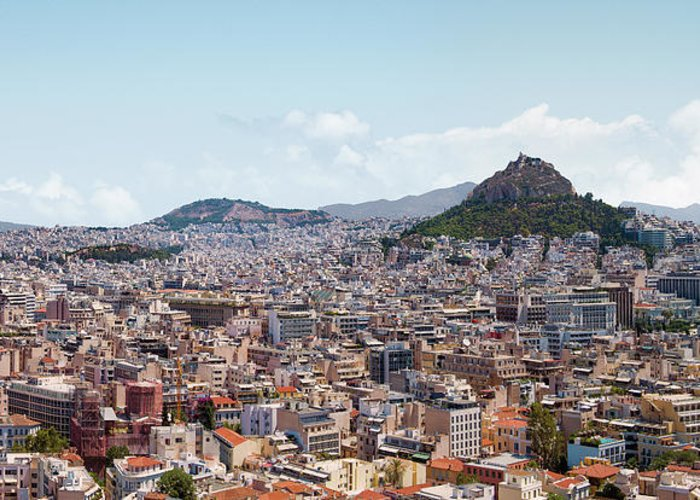 Greek Culture Greeting Card featuring the photograph Athens Panorama View From The Acropolis by Ed Freeman