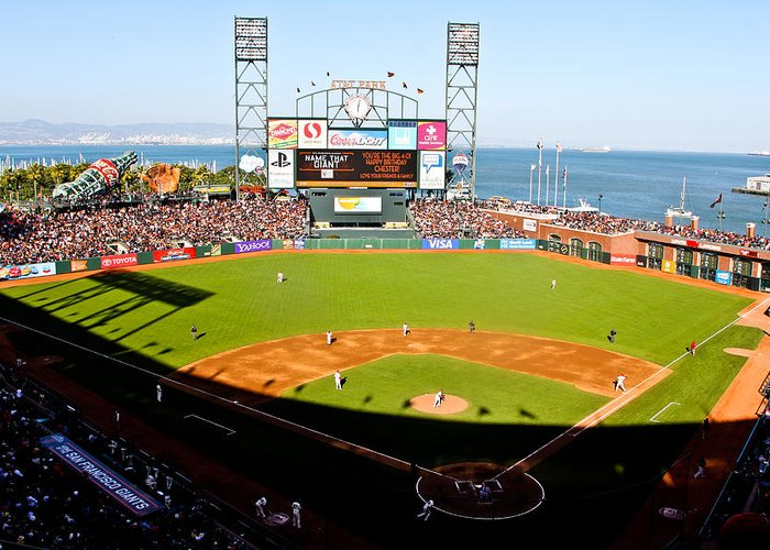 San Francisco Greeting Card featuring the photograph Att Park San Francisco by John McGraw