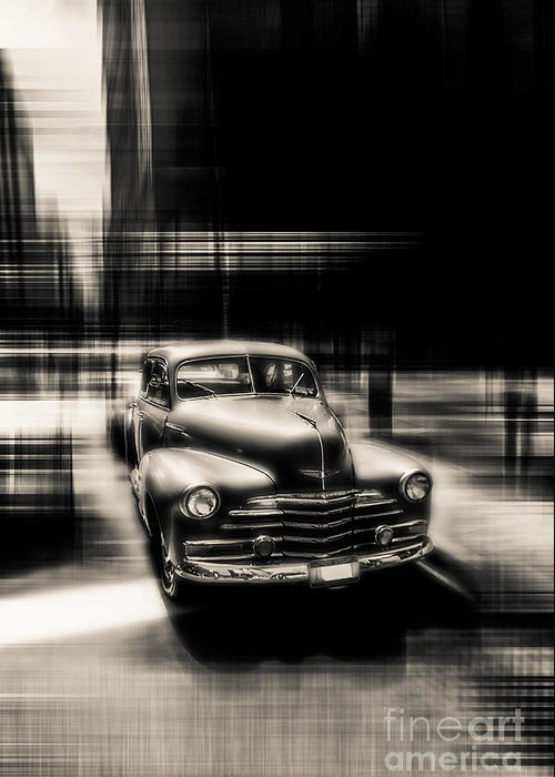 Nyc Greeting Card featuring the photograph attracting curves III gray by Hannes Cmarits