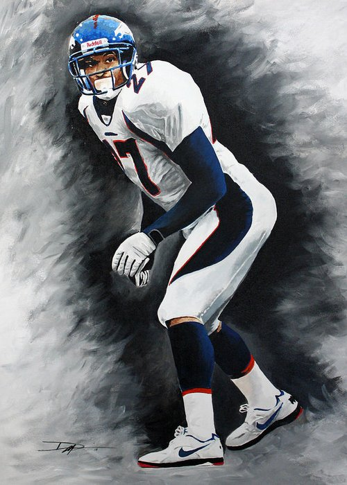 Steve Atwater Greeting Card featuring the drawing Atwater by Don Medina