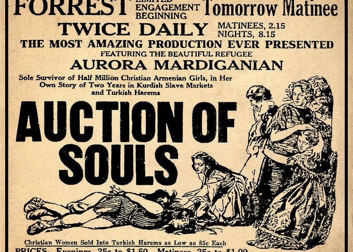 Auction Of Souls Greeting Card featuring the photograph Auction Of Souls by Bill Cannon
