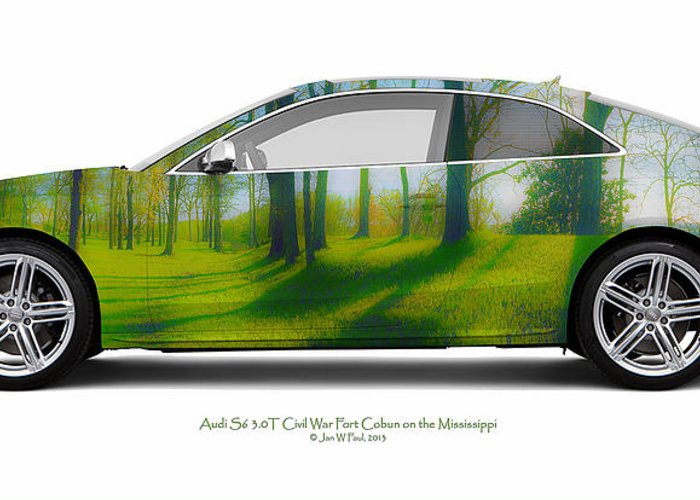 Travel Greeting Card featuring the photograph Audi S5 Coupe Mississippi Fort Cobun by Jan W Faul