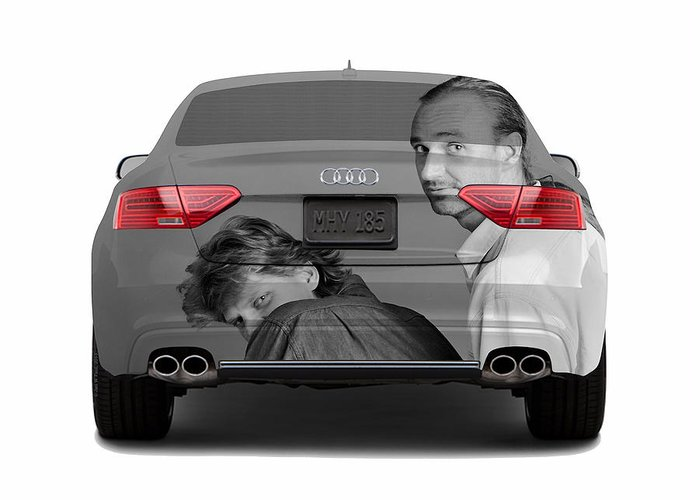Cars Greeting Card featuring the photograph Audi S5 Laid Back Copenhagen by Jan W Faul