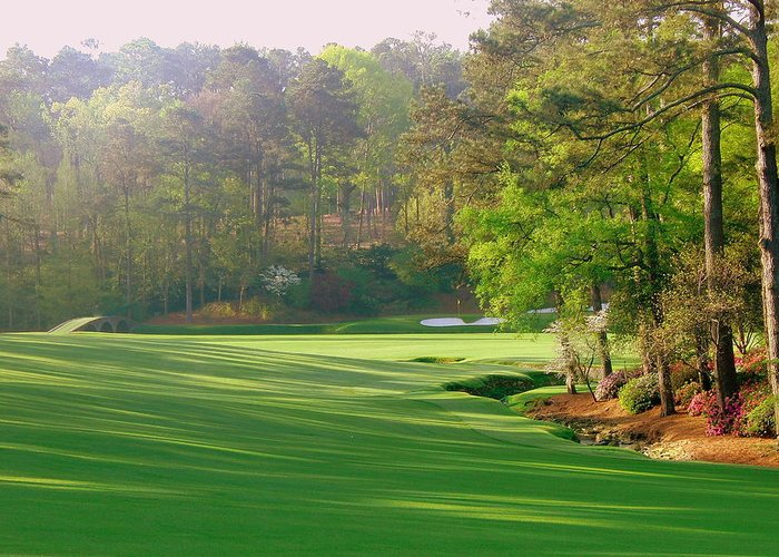 Hole 12 Augusta Greeting Card featuring the photograph Augusta Hole 12 by Bo Watson