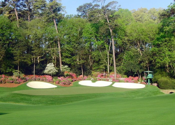 Amen Corner Greeting Card featuring the photograph Augusta National - Hole 13 by Bo Watson