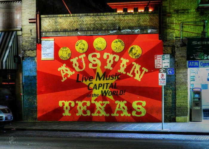 Austin Greeting Card featuring the photograph Austin Hdr 006 by Lance Vaughn